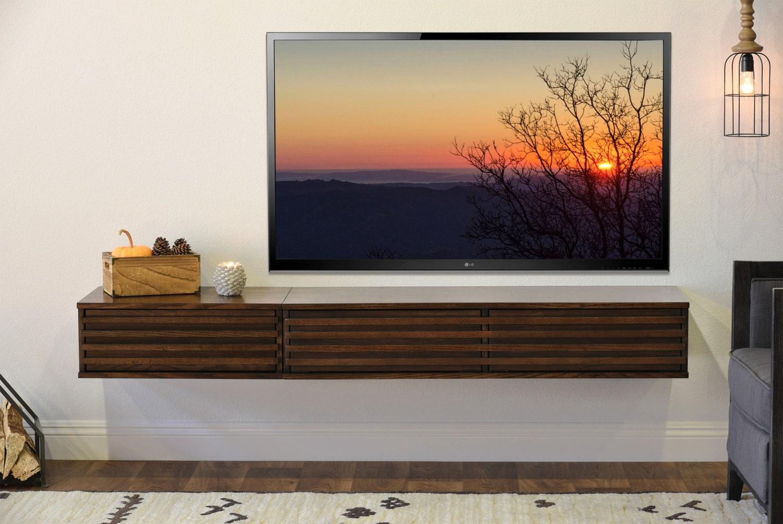 Flottant Divertissement Console Murale Monter Meuble Tv # Meuble Tv Flottant