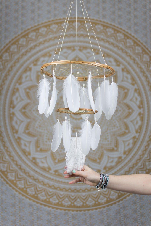 Chandelier dream catcher mobile white dream catcher zoom arubaitofo Image collections