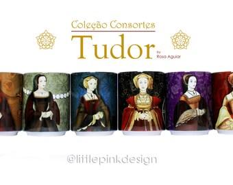 Set of three ceramic cup -  Tudor Consort