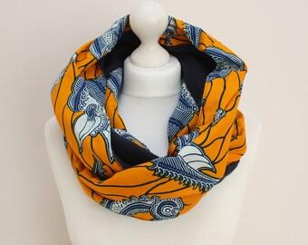 Gelbe Rundschal, Wachs drucken Schal, bunte Ankara Afrocentric Schal, Schmetterling Druck, afrikanischen print Schal, afrikanischen winter