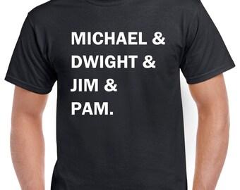The Office TV Show Shirt - Michael Scott Dwight Schrute Pam Beesly Jim Halpert - Funny Office Shirt