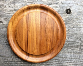 Vintage Dansk Teak Wood Serving Platter