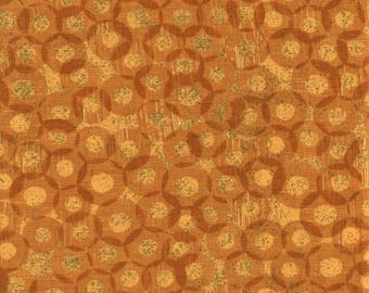 Moda Mon Ami 30415 17 Yellow Circular Design By The Yard
