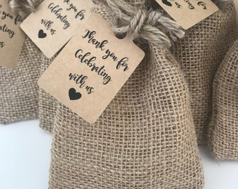 Party Favour Tags - Wedding Favour Tags - Engagement Favour Tags - Kraft Paper Tags - Thank you Tags (50)