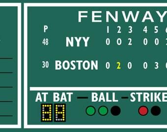 Fenway Scoreboard Etsy