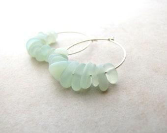 Sea Glass Earrings, Seaglass Earrings, Beach Jewelry, Beach Wedding, Seaglass Jewelry, Ocean Earrings, Beach Earrings