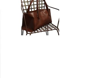 Big leather bag Shopper Einkaufsshopper failed bag Vintage style! Handmade