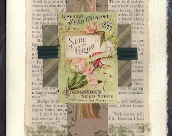Flowers Friendship Thinking of You Original Collage Card