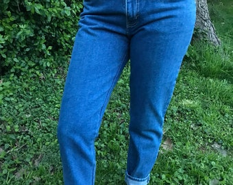 80s Sasson mom jeans // denim // size 13 // medium // 90s // ninties // vintage // jordache // straight leg // high waist