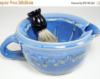 ON SALE Large Shave Scuttle - Big Scuttle Wetshave - Big Scuttle Shave - Scuttle Shaving Mug - Wet Shave Scuttle - Stoneware Scuttle - In St