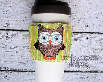 Owl Coffee Mug Cozy
