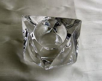 Jacob Jensen Votive Candleholder, Danish Crystal