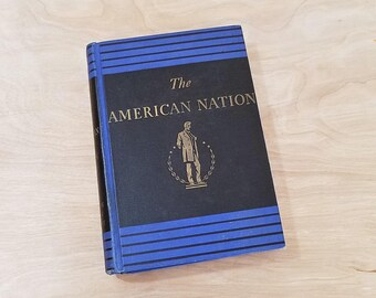 Vintage Book The American Nation by John D Hicks A History of the United States American US History Book