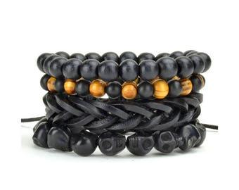 4 Pack Eclipse Bracelet Set