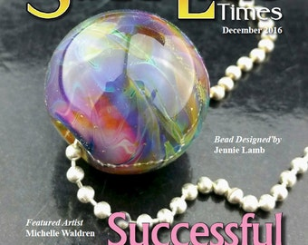 Dec 2016 Soda Lime Times Lampworking Magazine - Successful Encasing - (PDF) - by Diane Woodall
