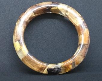 Wood resin bracelet