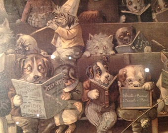 Funny print from the 60' , a dogs school