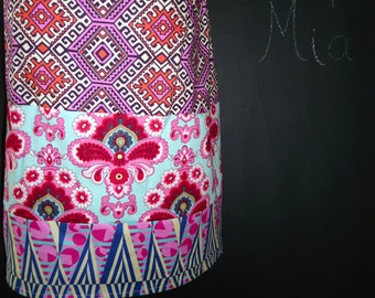 Sample SALE - Will fit Size S/M - Ready to MAIL - Patchwork Pencil SKIRT - Amy Butler - Hapi - by Boutique Mia