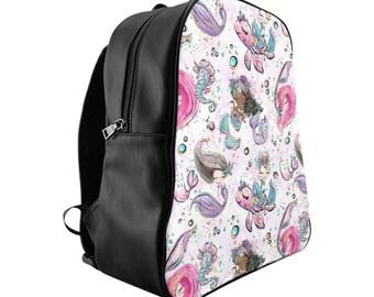 Mermaid Backpack, Mermaid, Backpack, Toddler Backpack, Girls Backpack, Mermaid Bag, Back To School, Kids Backpack, School Bag, Preschool Bag