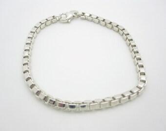 """Tiffany & Co. Sterling Silver Venetian Link Bracelet 7.5"""""""
