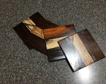 Hardwood Exotic Coasters