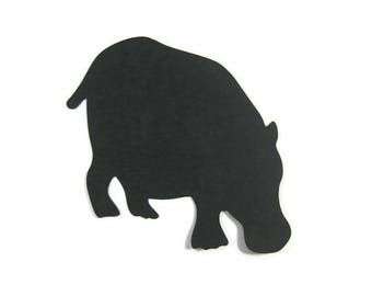 Paper Hippopotamus Die Cut Set of 9
