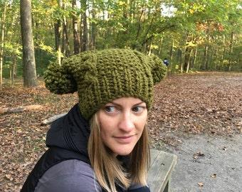 """Hand knit women's """"Jakey"""" hat"""