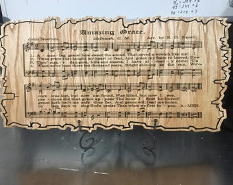 Amazing Grace Hymn Plaque