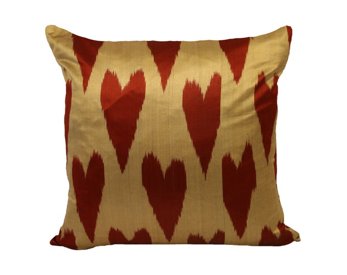 Valentine's Day gifts, Ikat Pillow, Hand Woven Ikat Pillow Cover, Ikat throw pillows,Designer pillows, Decorative pillows, Accent pillows