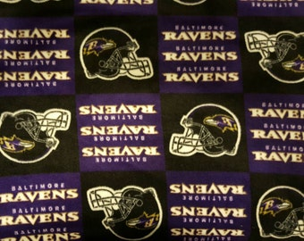 Baltimore Ravens Fleece blanket with crochet edge