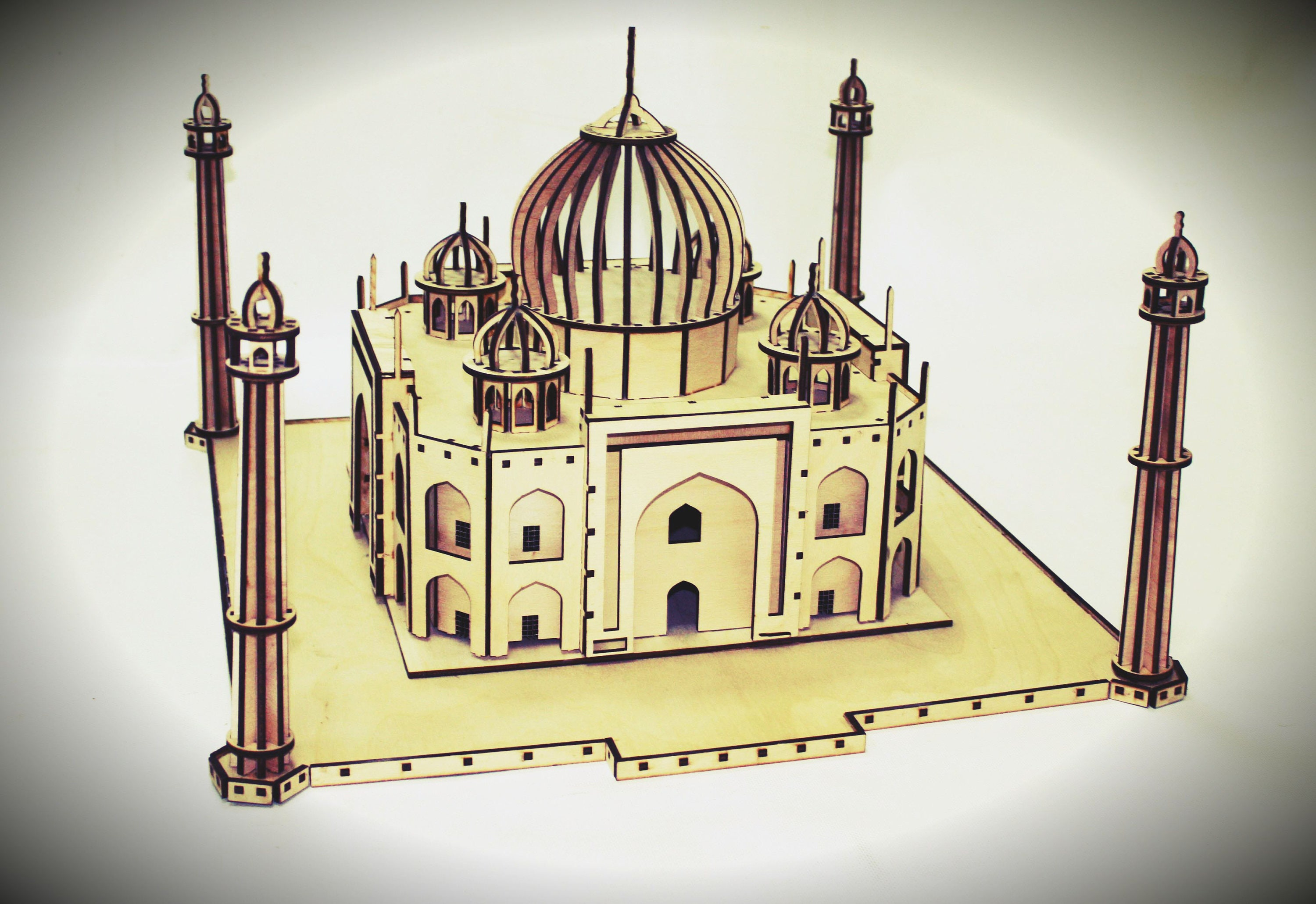 Palace Taj Mahal India. Vector file for laser cutting CNC.
