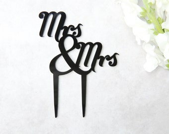 Mrs and Mrs Cake Topper | Lesbian Wedding Cake Topper | Acrylic Cake Topper | Perspex Wedding Topper | Gay Wedding Decor | Lesbian Theme