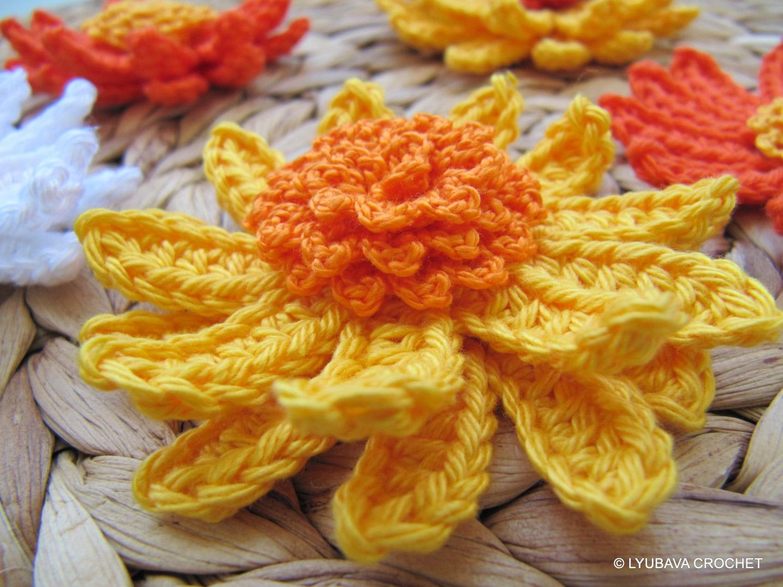 Crochet flower pattern gerbera daisy flower spring diy crafts 3d crochet flower pattern gerbera daisy flower spring diy crafts 3d flowers easy tutorial instant download pdf pattern no79 lyubava crochet izmirmasajfo