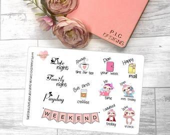 Sampler Planner Stickers