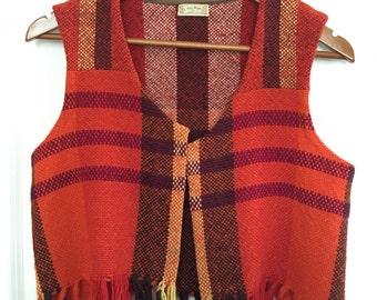 SALE!!! Hand Woven 70's Style Vest S-M