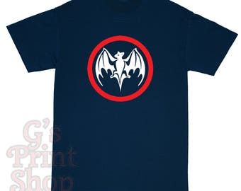 Bacardi Bat T Shirt - RUM - Rap - Red & White