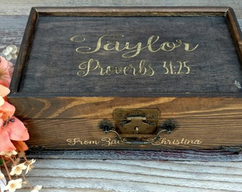 Jewelry Box, Blended Family Gift, Engraved Jewelry Box, Step Daughter Gift, Stepdaughter Wedding Gift, Daughter Wedding Gift, Gift for Girls