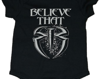 """Roman Reigns """"Believe That"""" With Shield Baby Creepers/Bodysuit"""