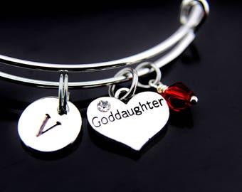 Goddaughter Bangle Bracelet, Goddaughter Gifts, Goddaughter Jewelry, Perfect Gift for Goddaughter, Goddaughter Charm Bracelet, Personalized