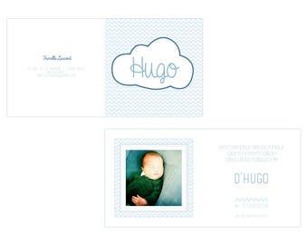 Cloud birth announcements