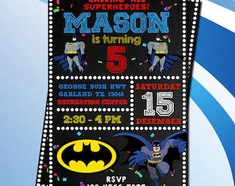 Batman invitations etsy batmanbatman invitationbatman birthdaybatman birthday invitationbatman partybatman printablesbatman invitesuperhero invitationinvite filmwisefo