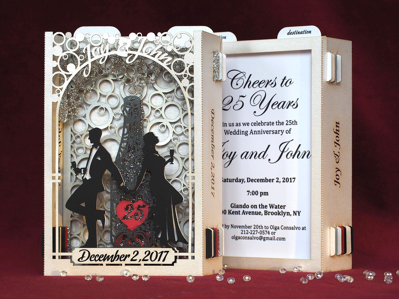 Wedding invitations Save the Date Anniversary invites laser