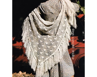 Crochet Shawl Pattern Lacy Heart Shawl Crochet Pattern Womens Easy Lightweight Wrap Shawl PDF Instant Download C100