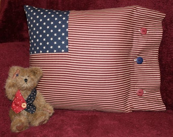 Americana USA Patriotic Red White Blue Country Flag pillow Cover