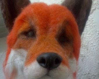 Custom Needle felted 100% wool felted animal,soft sculpture,felted fox,realistic felt animal