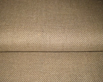 """Fat 1/2 yd. (32"""" x 36"""")  Unbleached LINEN Rug FOUNDATION FABRIC / Backing for Rug Hooking"""