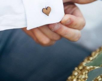 Cufflinks - Wedding cufflinks - Wood Cufflinks - Groom cufflinks - 5 year anniversary