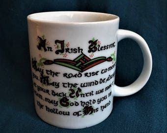 Carrigcraft Irish Blessing Cup Mug Carrigaline County Ireland St. Patrick's Day