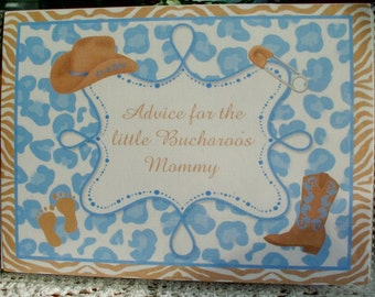 Cowboy, Cowgirl Theme Baby Shower Advice Book