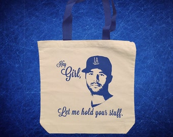 Hey Girl, Los Angeles Dodgers Tote Bag - Andre Ethier